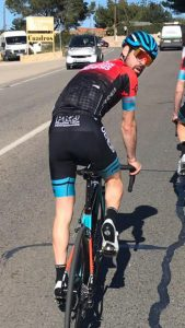 Johnny Riding with the Madison Genesis team in Calpe